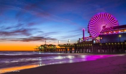 Sunset Santa Monica Pier, California