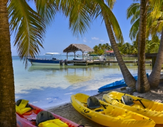 A caye in Belize