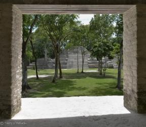 Doorway at Cahal Pech, Mayan Center, Belize