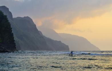 Na Pali Coast sunset, Kaua'i