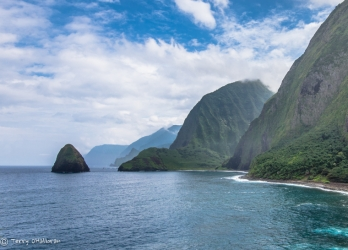 North Shore Moloka'i, taken from Kalaupapa