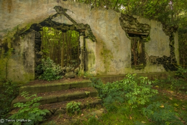 Ruins of leprosy treatment center, Kalaupapa, Moloka'i