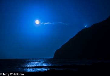 Makapu'u Supermoon rising, Oah'u