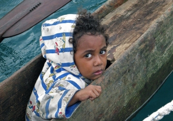 Girl in a Canoe, Papua New Guinea