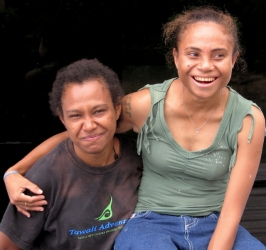 Two Friends in Papua New Guinea