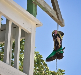 On a house at South Caye, Belize